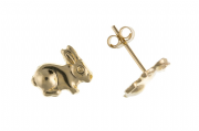 9ct gold Rabbit Stud Earrings
